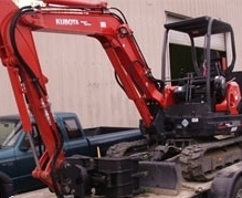 Landscape demolition equipment use by Environmental Construction, Kirkland WA