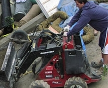 Landscape excavation equipment use by Environmental Construction, Kirkland WA