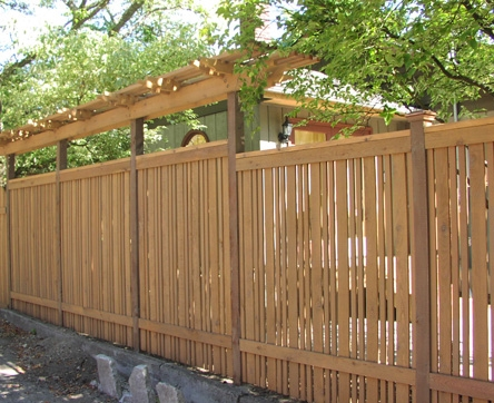 Semi-private fence designed by Kirkland Landscape Company, Environmental Construction