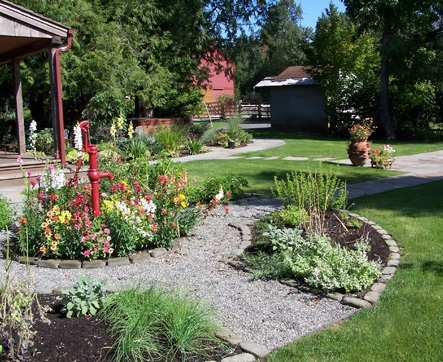 Herb and flower garden designed by Environmental Construction, Kirkland WA