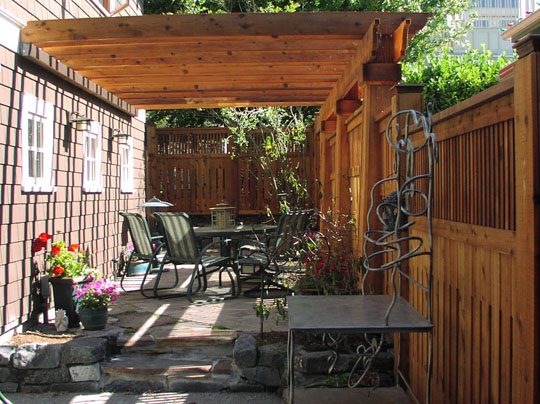 Beer garden patio