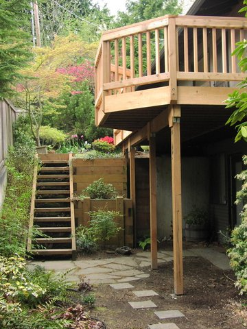 Balcony deck designed by Environmental Construction Inc. in Kirkland WA