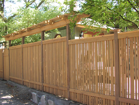 Semi-private fence designed by Environmental Construction Inc. in Kirkland WA